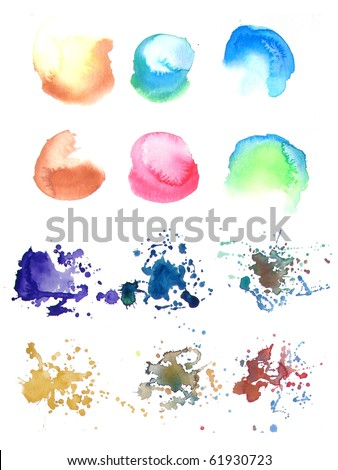 abstract watercolor background paint designs - stock photo