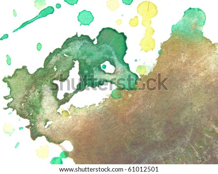 abstract watercolor background splash design - stock photo