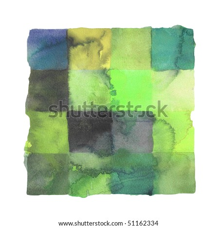 abstract watercolor background squares design - stock photo