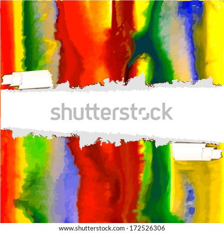 abstract watercolor background. stripes paint. Raster