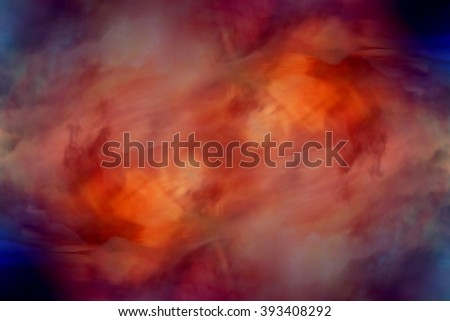 abstract watercolor background sunset sky orange purple - stock photo