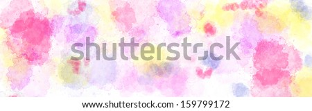 Abstract watercolor background texture in bright colors - stock photo