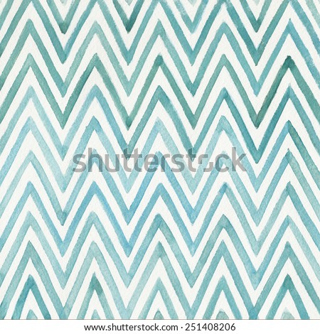 Abstract watercolor background with stripes on white background - stock photo