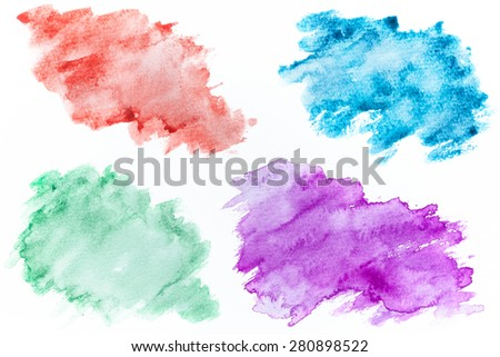 Abstract watercolor backgrounds - stock photo