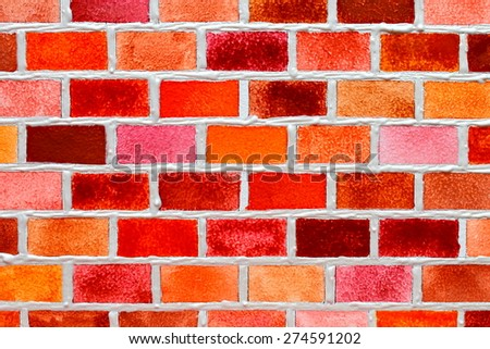 Abstract watercolor - Brick wall. Backgrounds & textures shop. - stock photo
