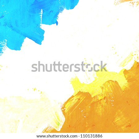 Abstract watercolor brush strokes background with space for text - stock photo