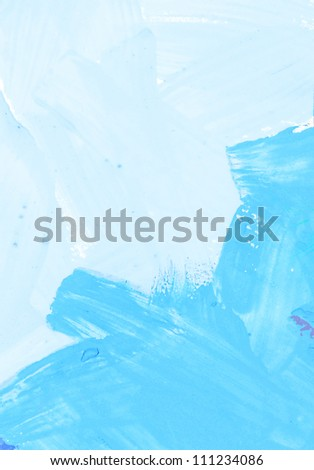 Abstract watercolor brush strokes texture - stock photo