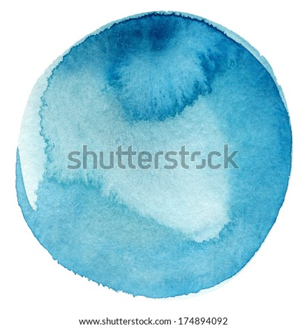 Abstract watercolor circle painted background - stock photo