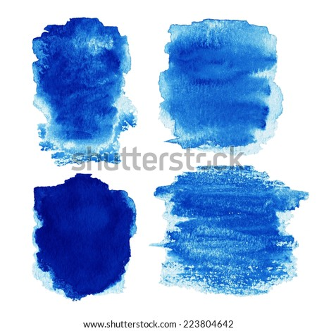 Abstract Watercolor design elements. Textured Water cloud Ink isolated on white background. Background for banner, card, poster, poster, wallpaper, elements for web design. - stock photo