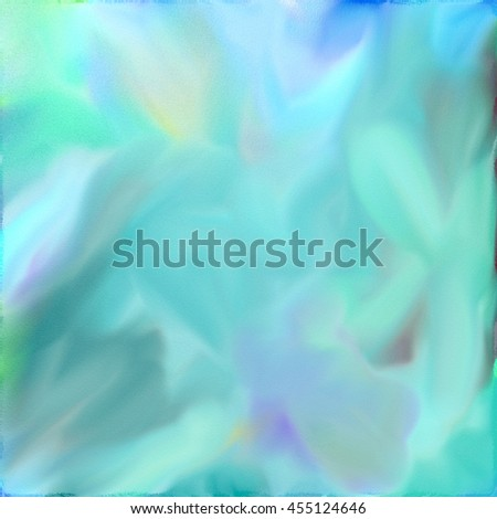 Abstract watercolor digital painting in blue tones. - stock photo