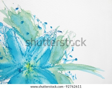 Abstract Watercolor Floral 2 - stock photo