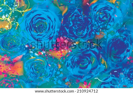 abstract watercolor flower background. hand made drawing. impressionism style. suitable for various designs and scrapbooking - stock photo