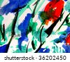 Abstract Watercolor Garden - stock photo