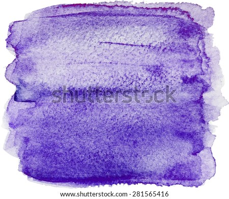 Abstract watercolor hand paint texture, isolated on white background, watercolor textured backdrop, watercolor drop, traced, vector eps 8 - stock photo