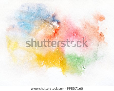 Abstract watercolor hand painted background.