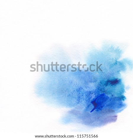 "Abstract watercolor hand painted background. Album   ""Abstract watercolor hand painted background"". ""Winter backgrounds""."