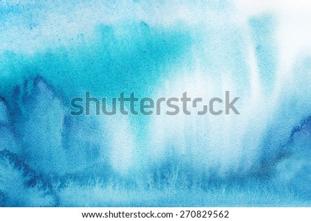 "Abstract watercolor hand painted background. .Album  "" Winter backgrounds."".Album ""New Abstract Water Colour Backgrounds"". - stock photo"