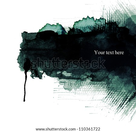 Abstract watercolor hand painted background. Isolated. - stock photo