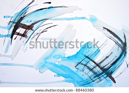 Abstract watercolor hand painted blur background - stock photo