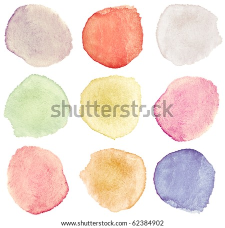 Abstract watercolor hand painted design elements - stock photo