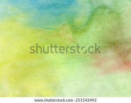 Abstract watercolor light painted background or texture. CLoseup. - stock photo