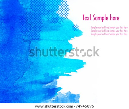 Abstract watercolor on paper - stock photo