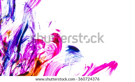 abstract watercolor paint background - stock photo