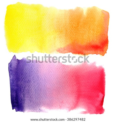 Abstract watercolor painted background isolated on white background