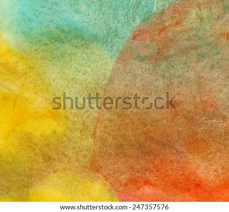 Abstract watercolor painted background or texture - stock photo