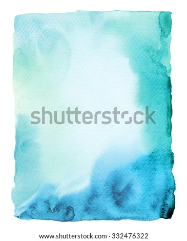 Abstract watercolor painted background. Texture paper. - stock photo