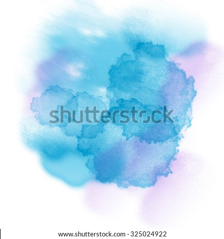 Abstract watercolor painting. - stock photo