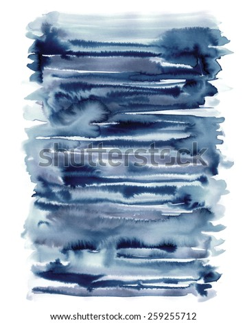 Abstract watercolor painting. Design element. Isolated. - stock photo