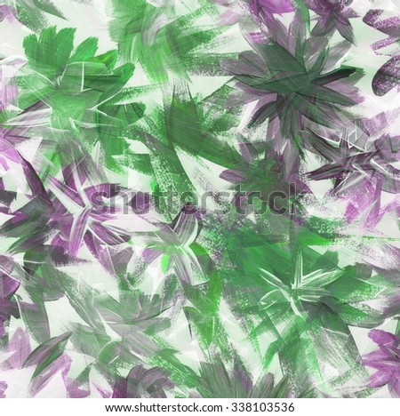 Abstract watercolor painting. Floral background  - stock photo