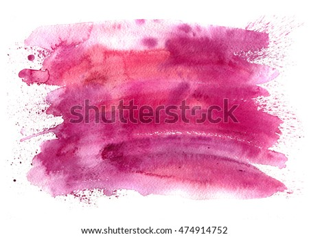 Abstract watercolor spot with droplets, smudges, stains, splashes. Bright color blot in grunge style. To design and decor backgrounds, banners, flyers.