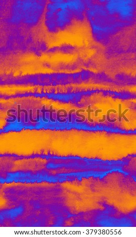 Abstract watercolor striped seamless pattern in gray colors - stock photo