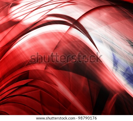 Abstract wave background, red color - stock photo