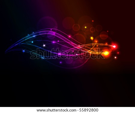 abstract wave,raster illustration - stock photo