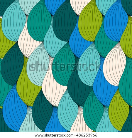 Abstract Wave Seamless Pattern Background.  Illustration