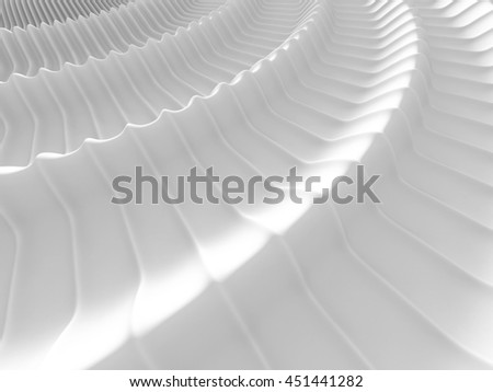 Abstract Waves Stripe Pattern Background. 3d Render Illustration - stock photo