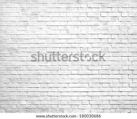 Abstract weathered texture of stained old stucco light gray and paint white brick wall background in rural room, grungy rusty blocks of stonework technology colorful horizontal architecture wallpaper - stock photo