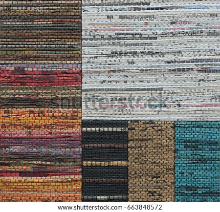 Abstract weave texture made from recycled newspaper texture