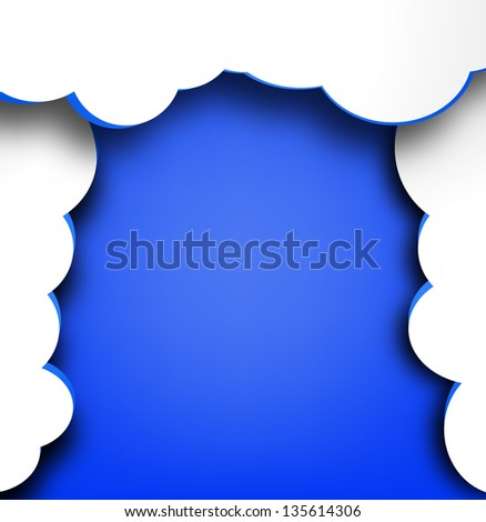 Abstract web design background with clouds.Raster version.