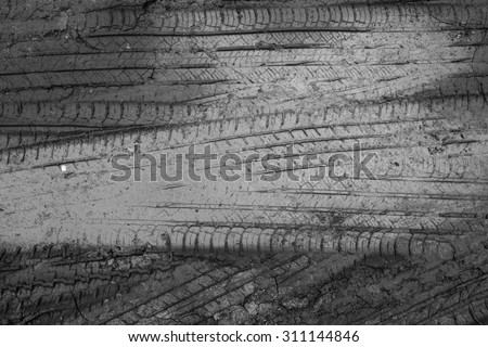 abstract wheel trail background, sweet dreamy, soft focus, black and white - stock photo