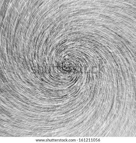 Abstract whirlpool of star trail motion in black and white vortex - stock photo