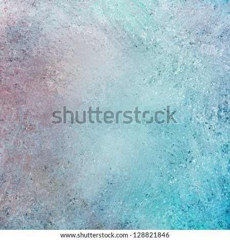 abstract white background blue red and gray color accent, rough distressed vintage grunge background texture design, old faded background, dirty messy sponge grunge texture, abstract vintage paper - stock photo