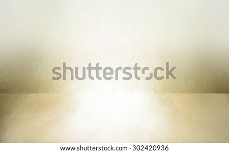 abstract white background empty room interior with shiny gold hue, wall floor reflection illustration, 3d box product display showcase, blank stage or studio  - stock photo