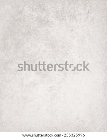abstract white background, faded gray stain colors of faint sponged vintage grunge background texture, distressed rough white painted wall - stock photo