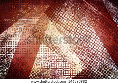 abstract white background red grid mesh stripes, graphic art image of hole cut outs, layered collage, vintage grunge background texture design, web technology background, industrial corporate style   - stock photo