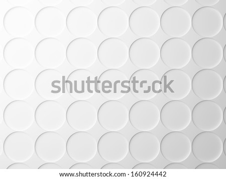 Abstract white background texture with round elements pattern. 3d render - stock photo