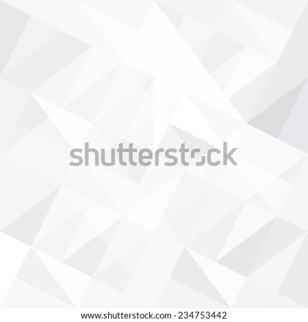 Abstract white background with triangles. Raster version - stock photo